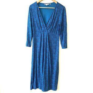 Boden | Floaty Scalloped Faux Wrap Stretch Dress